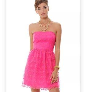 "NWT!! Lily Pulitzer ""pop pink"" Payton Dress size 4"